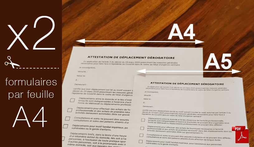attestation dérogatoire A5
