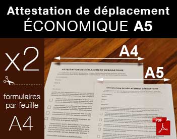 attestation derogatoire A5