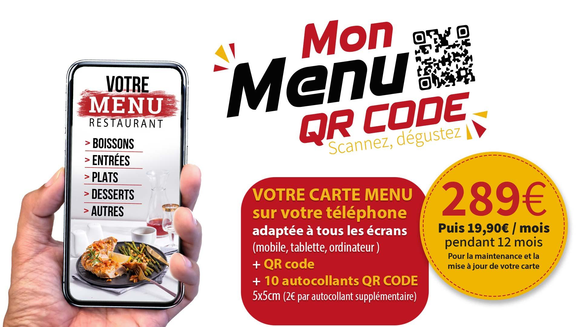menu qrcode